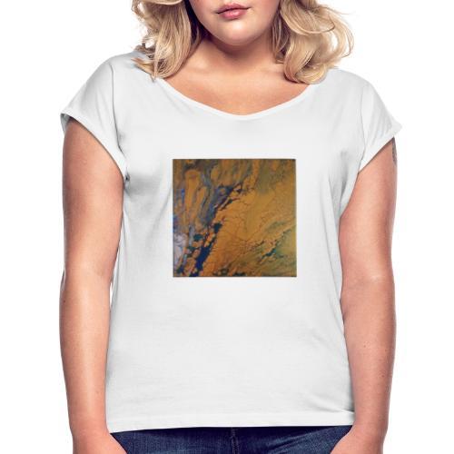 Abstract - Vrouwen T-shirt met opgerolde mouwen