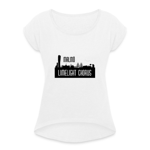 MLCLogo - T-shirt med upprullade ärmar dam