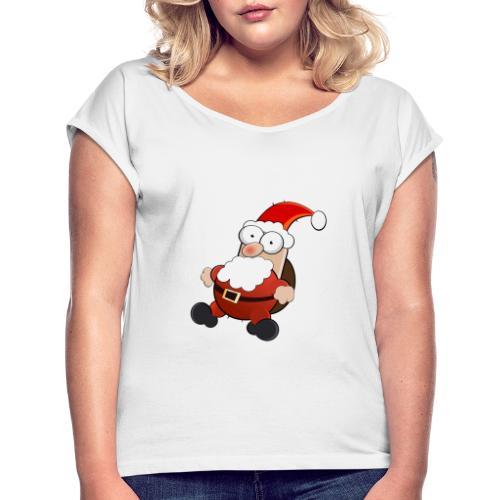 Mikołaj - Koszulka damska z lekko podwiniętymi rękawami