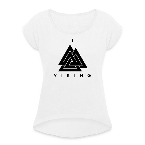 I lov Viking - T-shirt à manches retroussées Femme