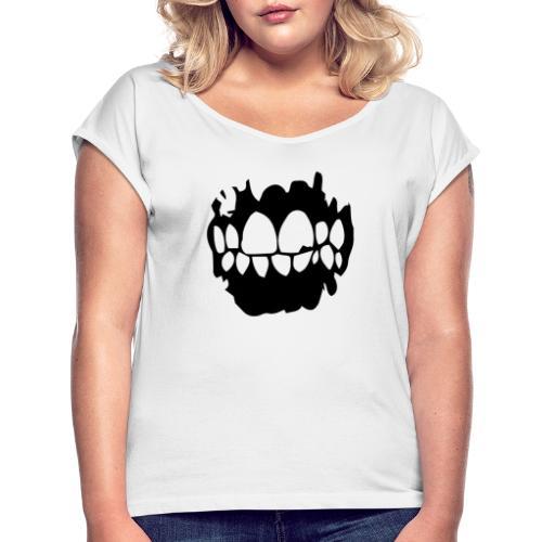 Lowlife - Logotyp - T-shirt med upprullade ärmar dam