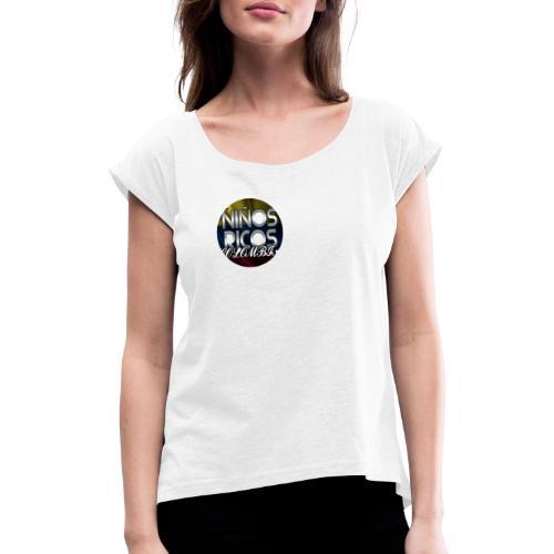 Niños Ricos Colombia - Camiseta con manga enrollada mujer
