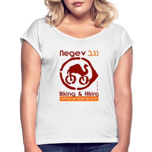 Mountainbike- und Wander T-Shirt Negev/ Israel - Frauen T-Shirt mit gerollten Ärmeln