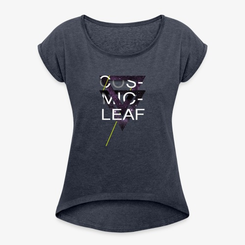Cosmicleaf Triangles - Women's T-Shirt with rolled up sleeves