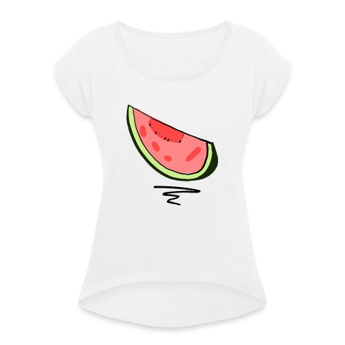 Pastèque - T-shirt à manches retroussées Femme