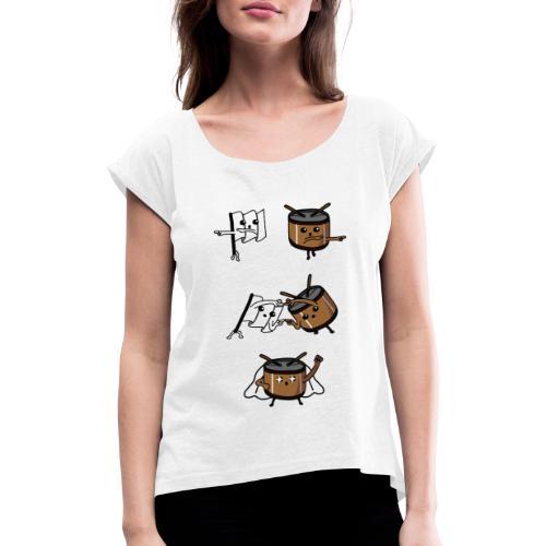 fusione - Maglietta da donna con risvolti