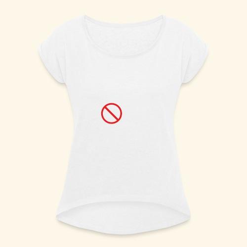 arrêter de lire - T-shirt à manches retroussées Femme