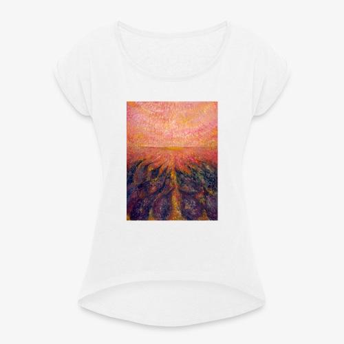 In Far Road - Koszulka damska z lekko podwiniętymi rękawami