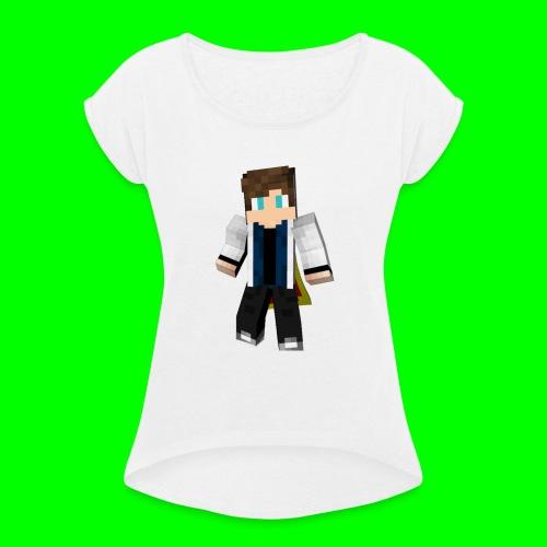Sweat à Capuche avec Logo - T-shirt à manches retroussées Femme