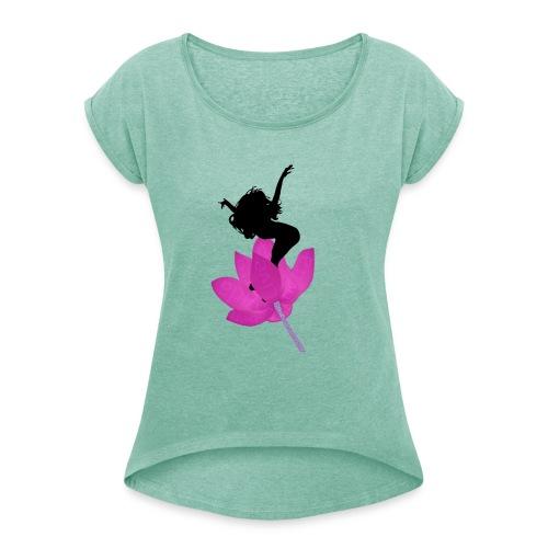 Jump life - Camiseta con manga enrollada mujer