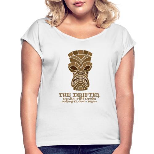 tshirt logo - Vrouwen T-shirt met opgerolde mouwen