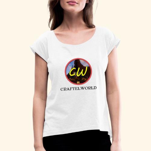 CraftelWorld - Vrouwen T-shirt met opgerolde mouwen