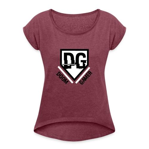 doomcap - Vrouwen T-shirt met opgerolde mouwen