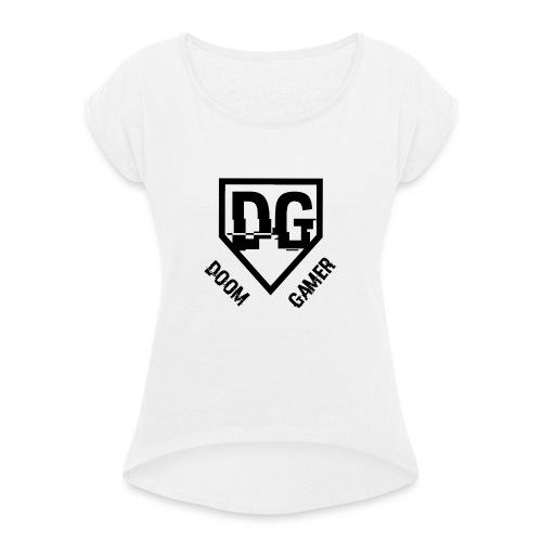 Doomgamer's muismat - Vrouwen T-shirt met opgerolde mouwen