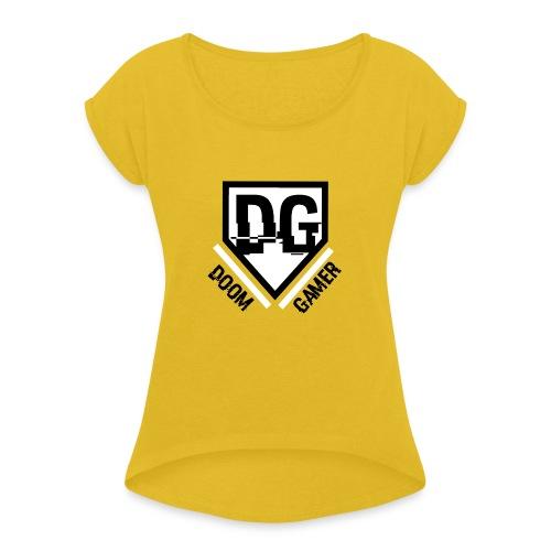 Doomgamer apple 6 / 6s plus hoesje - Vrouwen T-shirt met opgerolde mouwen