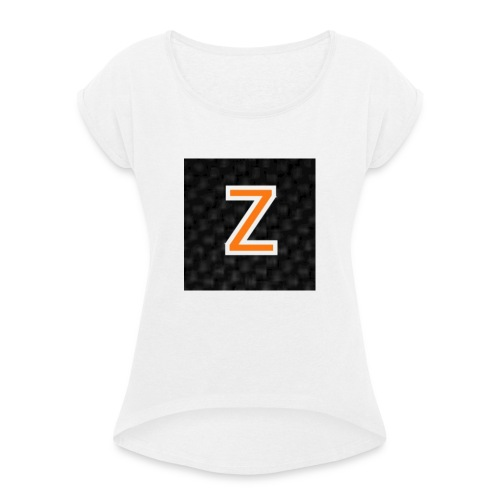 Zaragon Collection - T-shirt med upprullade ärmar dam