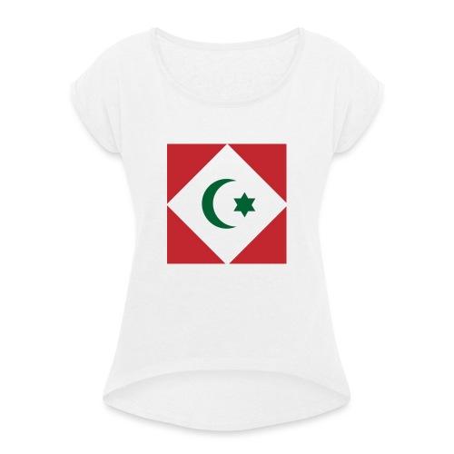 berber vlag - Vrouwen T-shirt met opgerolde mouwen