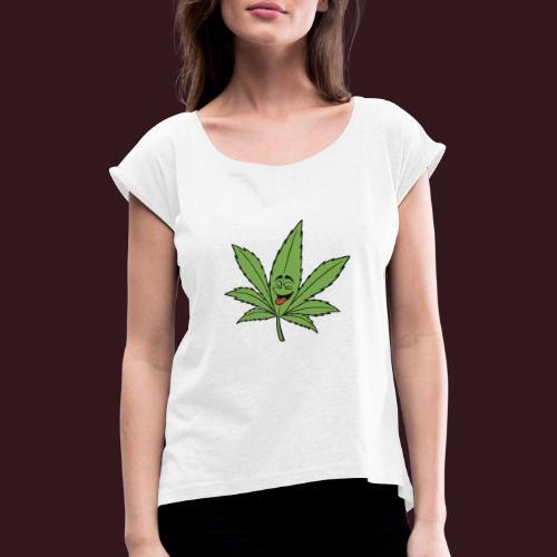 Weed - T-shirt à manches retroussées Femme