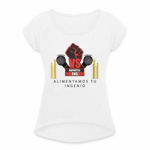 PRODUCTOS RAPBATTLE-ENS - Camiseta con manga enrollada mujer
