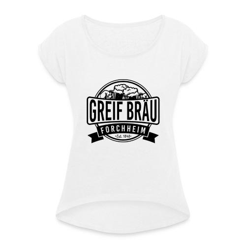 logo 3 2 - Frauen T-Shirt mit gerollten Ärmeln