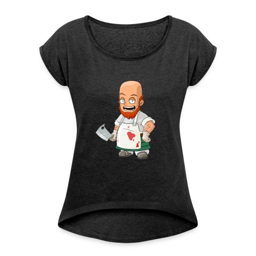butcher - Dame T-shirt med rulleærmer