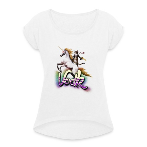 VodK licorne png - T-shirt à manches retroussées Femme