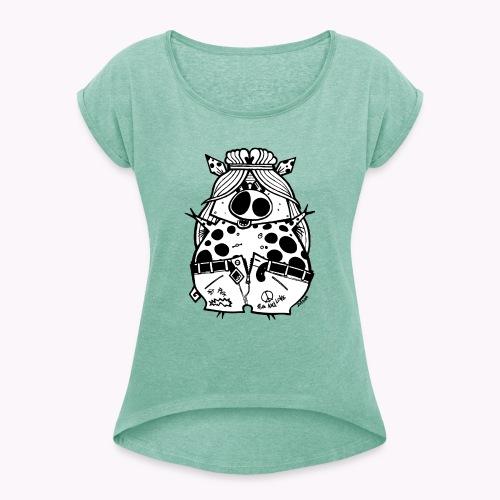 hippig - Maglietta da donna con risvolti