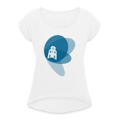 Maglietta a manica lunga - Maglietta da donna con risvolti