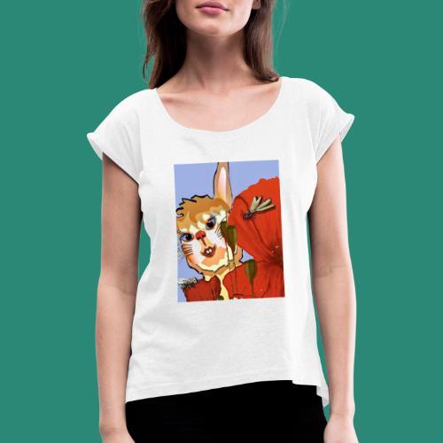 der Hase - Frauen T-Shirt mit gerollten Ärmeln