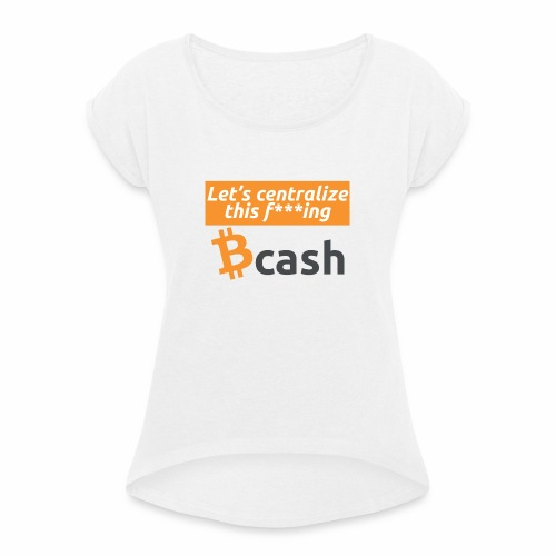 Bcash centralized - Maglietta da donna con risvolti