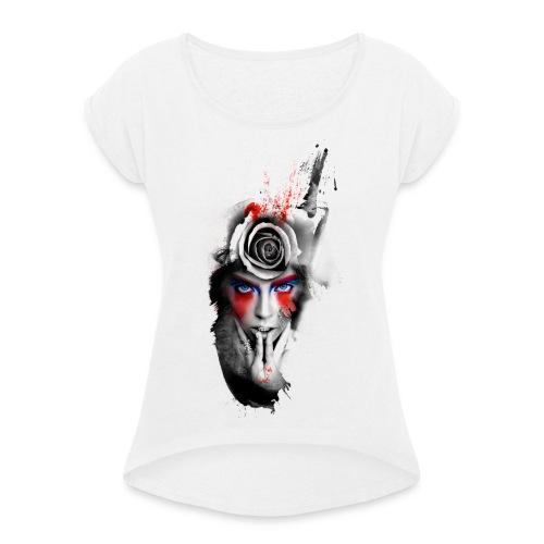 Passionrose - Maglietta da donna con risvolti