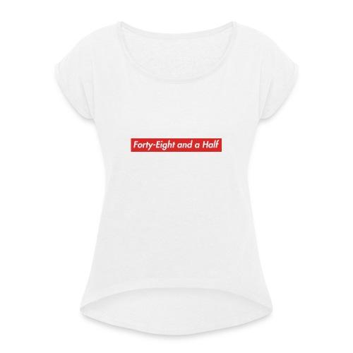 48 1/2 - T-skjorte med rulleermer for kvinner