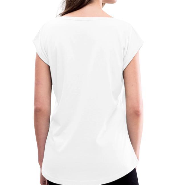 Vorschau: I bin summa süchtig - Frauen T-Shirt mit gerollten Ärmeln