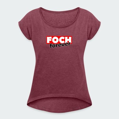Damska Koszulka Premium FOCH - Koszulka damska z lekko podwiniętymi rękawami