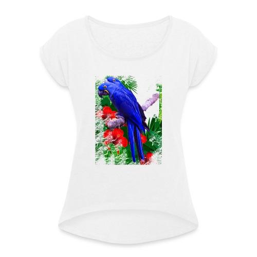 PAPPAGALLI - Maglietta da donna con risvolti