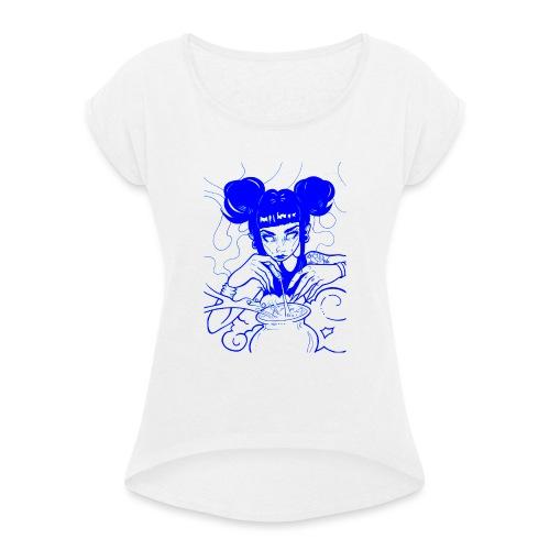 alchemik - Koszulka damska z lekko podwiniętymi rękawami