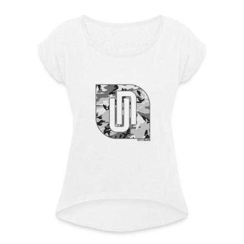 Unitwear – Camo UN Tshirt - Vrouwen T-shirt met opgerolde mouwen
