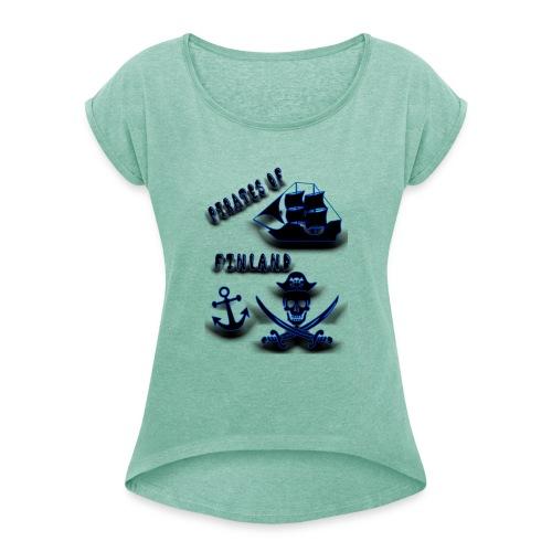 Pirates - Naisten T-paita, jossa rullatut hihat