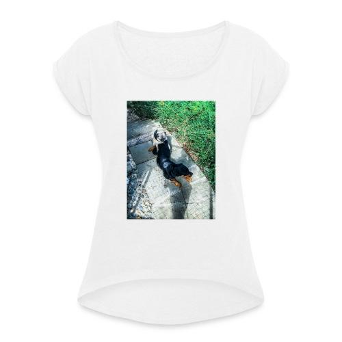 Hundeliebe - Frauen T-Shirt mit gerollten Ärmeln