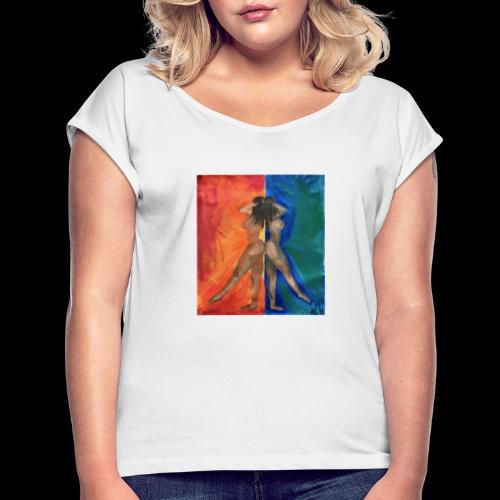 gemini - T-shirt med upprullade ärmar dam