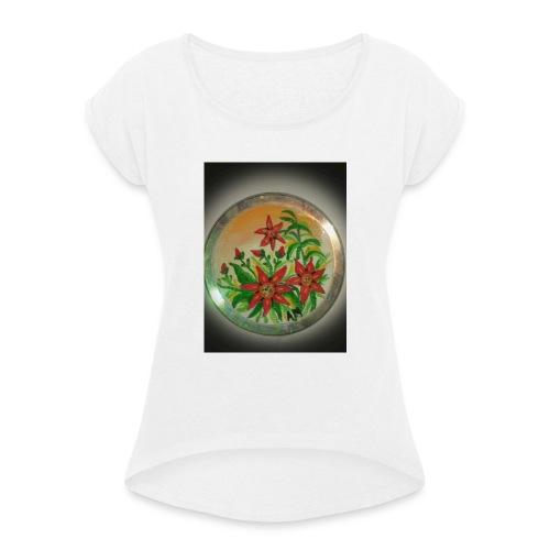 Flores de Venezuela - Camiseta con manga enrollada mujer