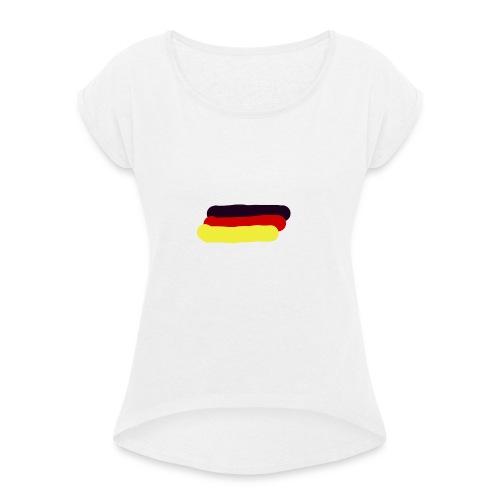 Deutschland - Frauen T-Shirt mit gerollten Ärmeln