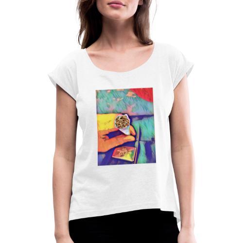 Smoke one! - Frauen T-Shirt mit gerollten Ärmeln