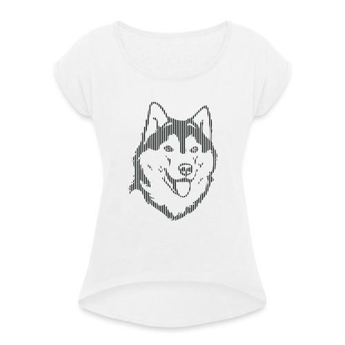 ALASKA RAYAS - Camiseta con manga enrollada mujer