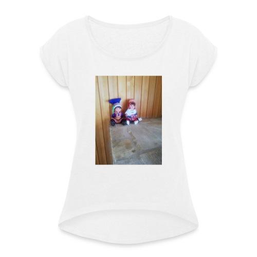 IMG 20190719 135721 - T-shirt med upprullade ärmar dam
