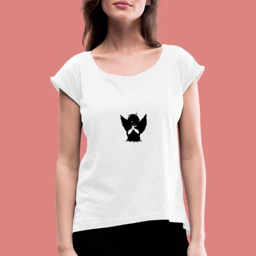 Dark evil - T-shirt à manches retroussées Femme