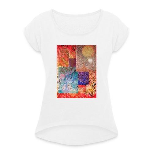 SOMMERTRAUM - Frauen T-Shirt mit gerollten Ärmeln