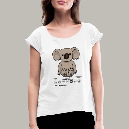 Koala & Co - T-shirt à manches retroussées Femme