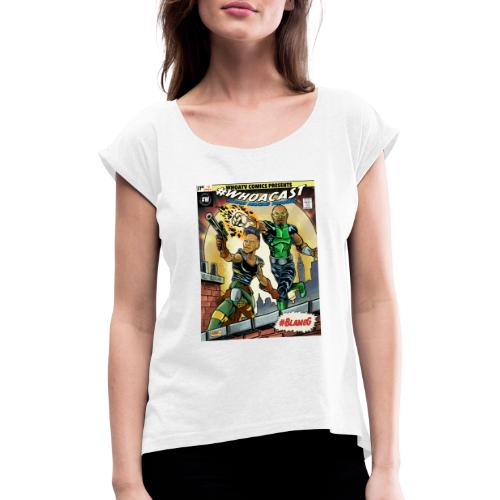 WHOACAST - Women's T-Shirt with rolled up sleeves