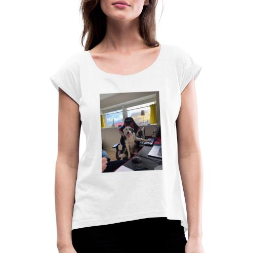 Funny PIC - Dame T-shirt med rulleærmer